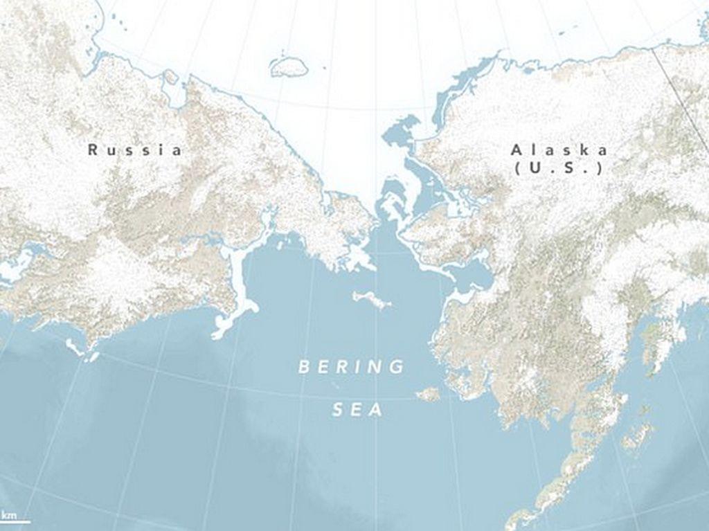 Viral di TikTok Bisa Jalan Kaki ke Rusia dari Alaska, Benarkah?