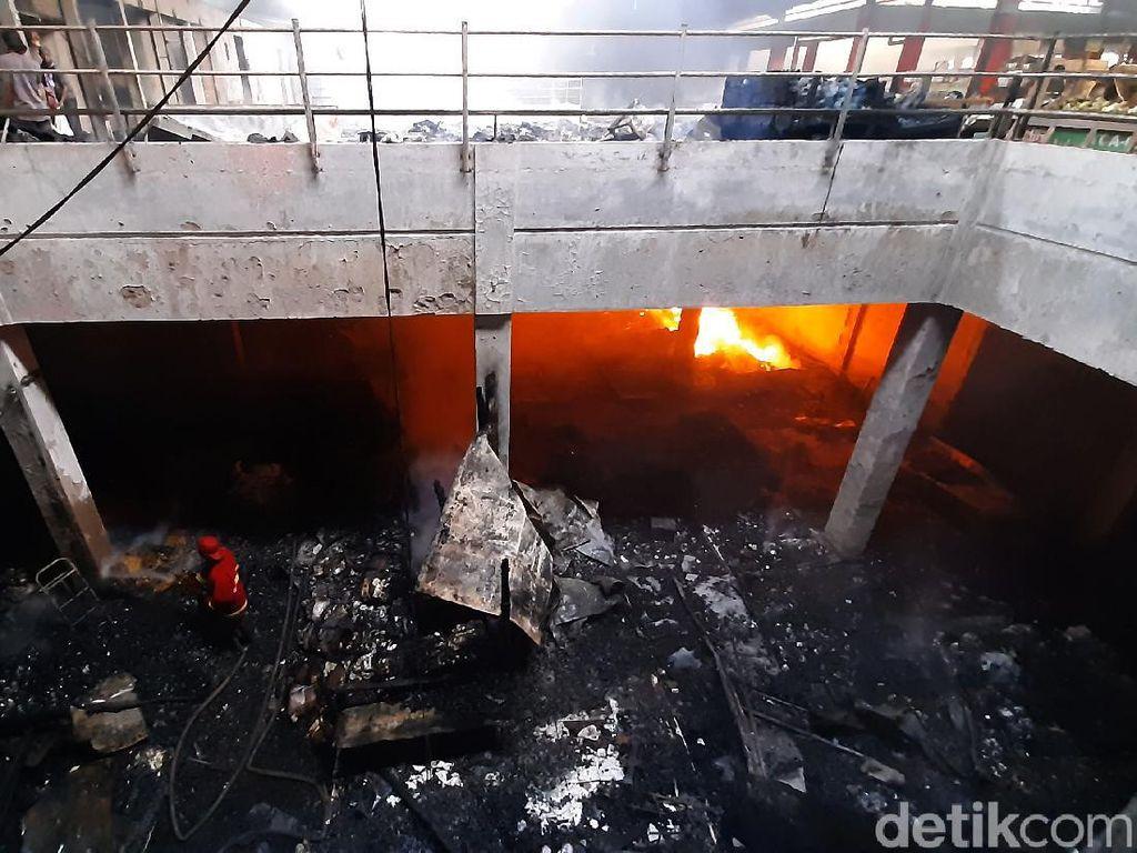 Polisi: Kebakaran Pasar Wage Purwokerto Akibat Korsleting Listrik