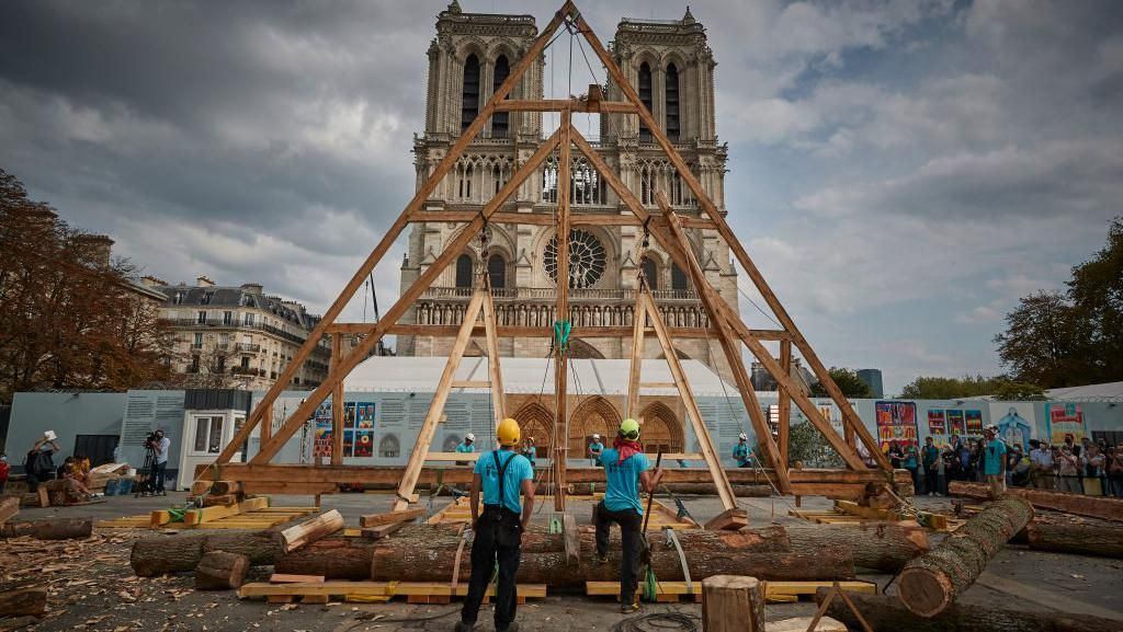 Potret Rekonstruksi Katedral Notre-Dame Pasca Kebakaran