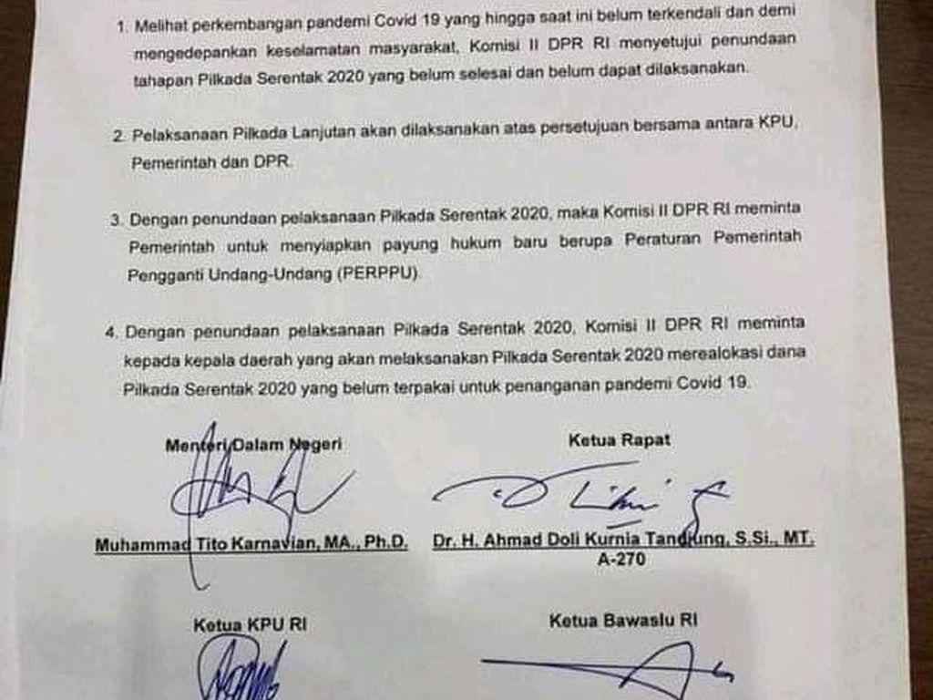 Beredar Surat Penundaan Pilkada 2020, Komisi II: Masih Tetap 9 Desember