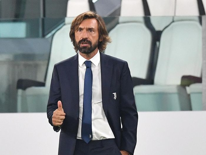 TURIN, ITALY - SEPTEMBER 20:  Juventus head coach Andrea Pirlo gestures during the Serie A match between Juventus and UC Sampdoria at Allianz Stadium on September 20, 2020 in Turin, Italy.  Photo by Valerio Pennicino/Getty Images)