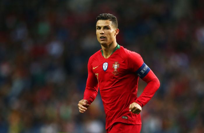 PORTO, PORTUGAL - JUNE 05:  Cristiano Ronaldo of Portugal looks on during the UEFA Nations League Semi-Final match between Portugal and Switzerland at Estadio do Dragao on June 05, 2019 in Porto, Portugal. (Photo by Jan Kruger/Getty Images)