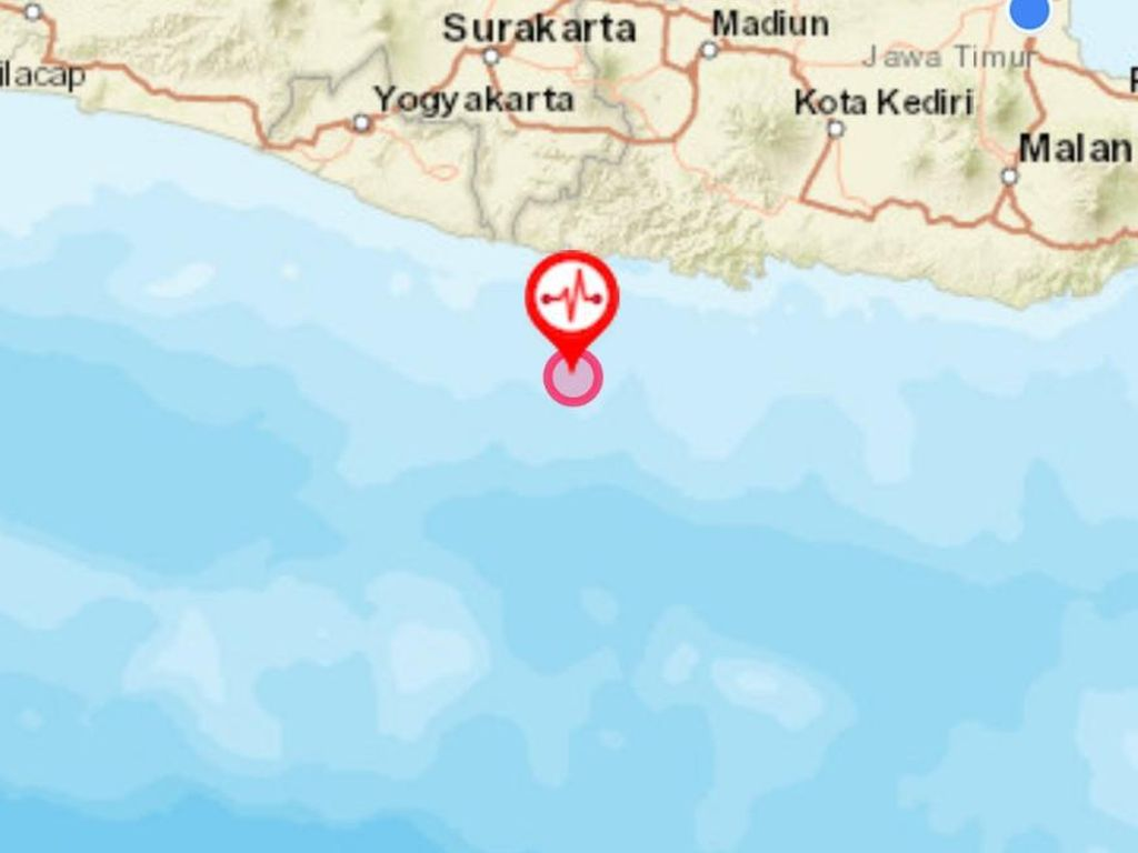 Gempa M 4,3 Guncang Pacitan