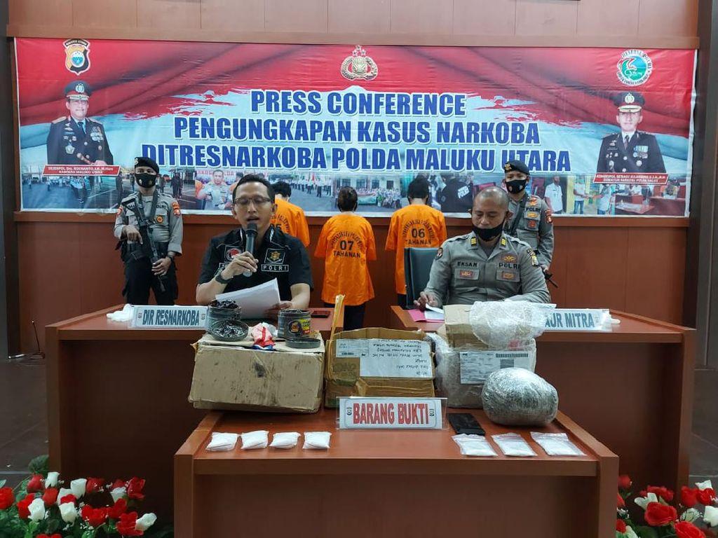 Polda Malut Tangkap 3 Tersangka Narkoba, 2 Kasus Terkait Napi di Penjara