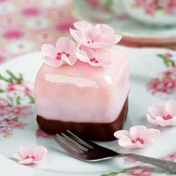 Resep puding bunga sakura cokelat