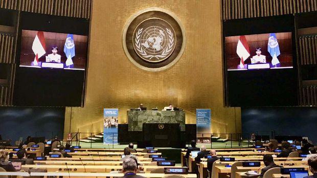 Retno L Marsudi di Sidang Umum PBB