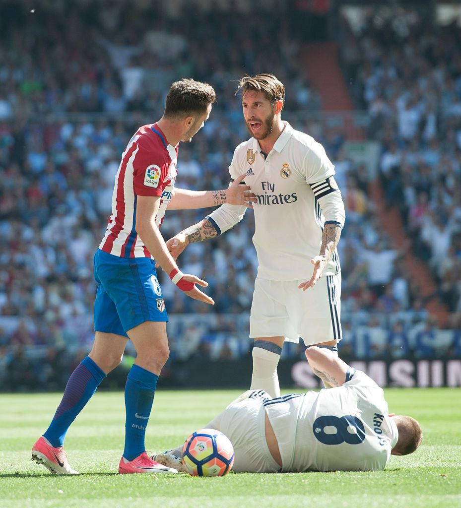 MADRID, SPAIN - MARCH 01: Sergio Ramos of Real Madrid CF runs with the ball during the Liga match between Real Madrid CF and FC Barcelona at Estadio Santiago Bernabeu on March 01, 2020 in Madrid, Spain. (Photo by David Ramos/Getty Images)