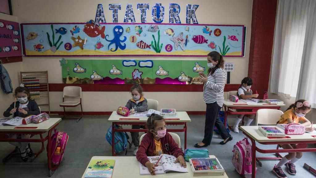 Siswa TK-SD Kelas 1 Turki Sudah Masuk Kelas Lagi