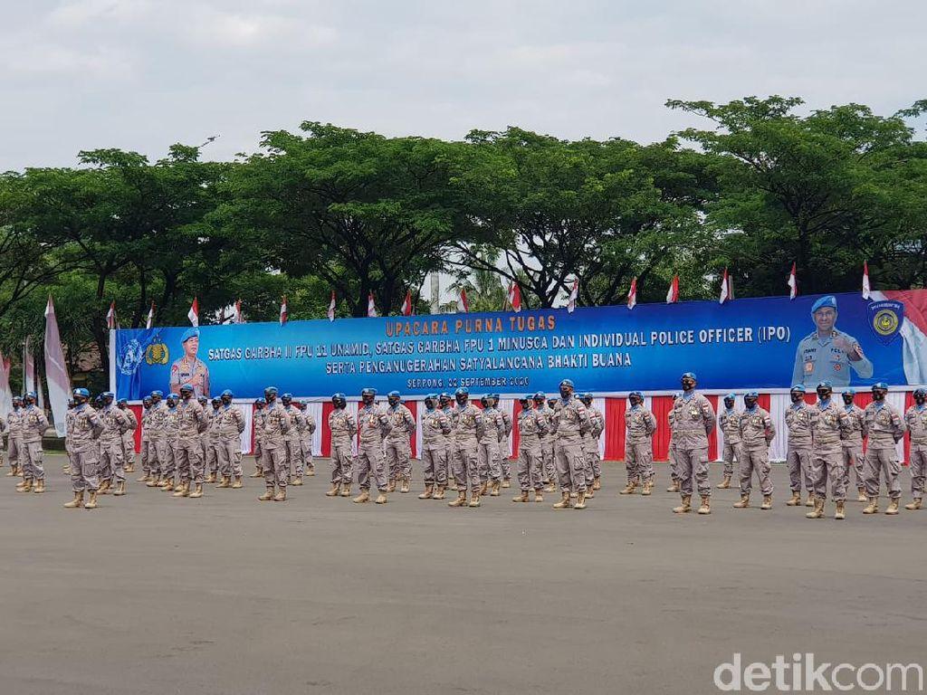 Wakapolri Beri Penghargaan ke 302 Pasukan Perdamaian, Ini Pesannya