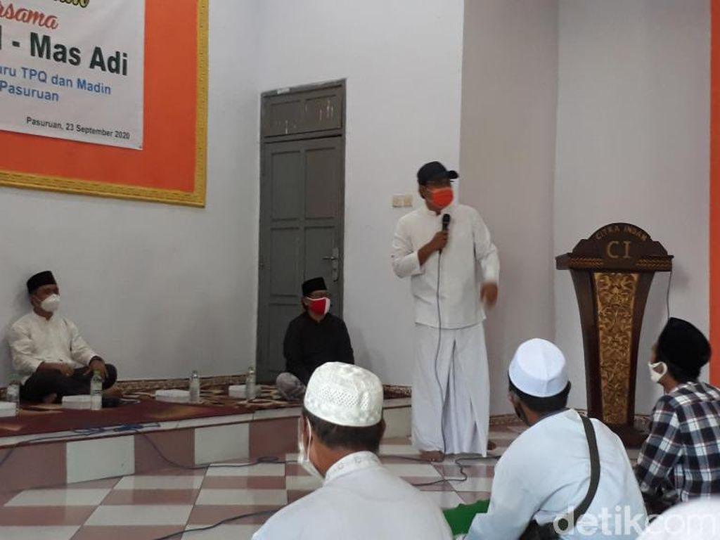 Gus Ipul Janji Anggaran Guru Madin dan TPQ di Pasuruan Dinaikkan