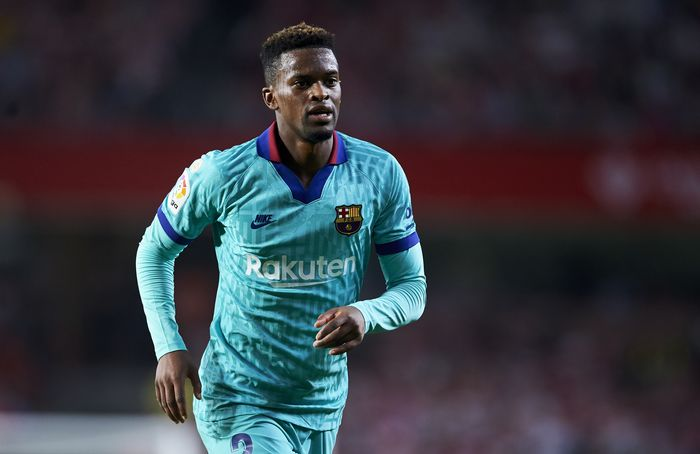 GRANADA, SPAIN - SEPTEMBER 21: Nelson Semedo of FC Barcelona reacts during the Liga match between Granada CF and FC Barcelona at Estadio Nuevo Los Carmenes on September 21, 2019 in Granada, Spain. (Photo by Aitor Alcalde/Getty Images)