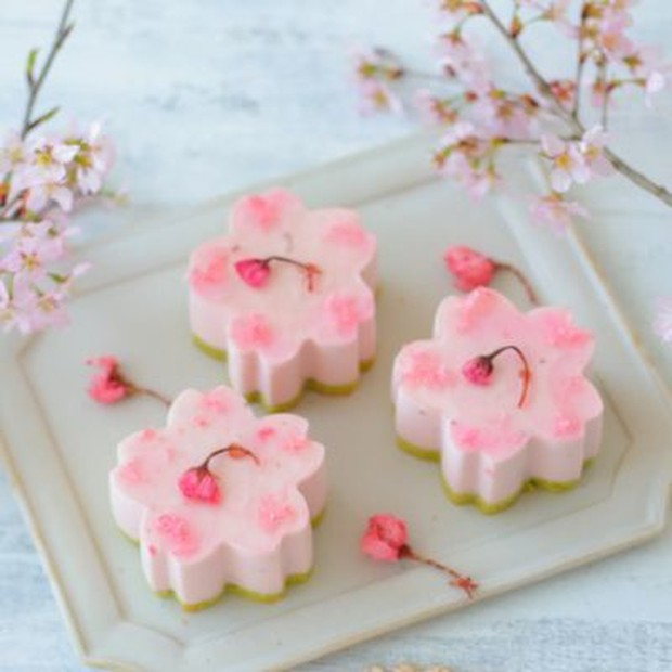 Resep puding cake bunga sakura
