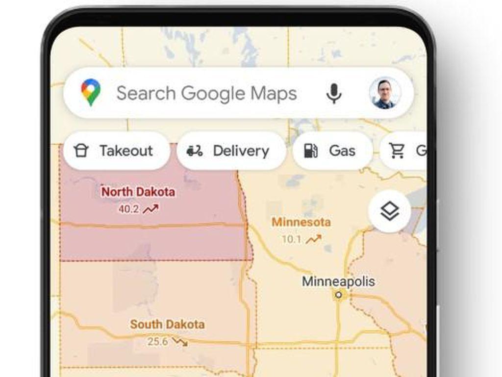 Google Maps Tampilkan Tingkat Keparahan COVID-19 di Peta