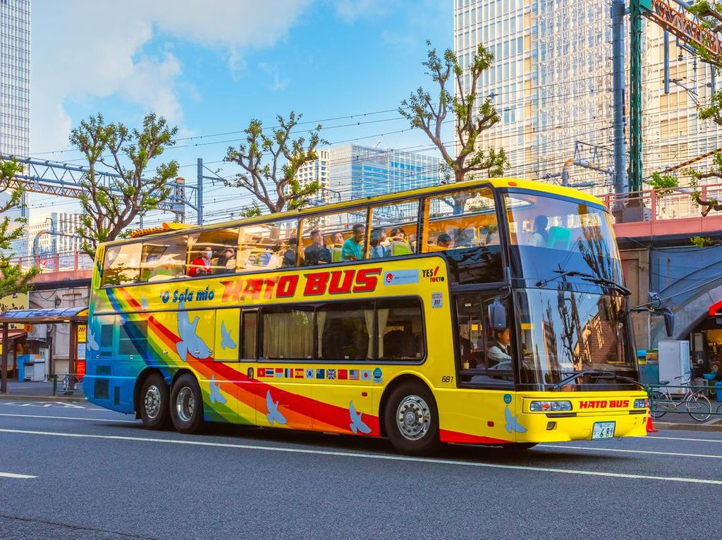 Wisata Unik di Jepang, Labirin dari Susunan Bus Pariwisata