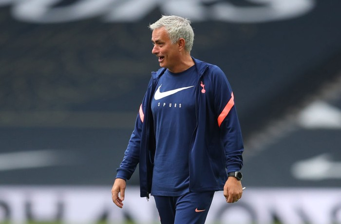 LONDON, ENGLAND - AUGUST 22: Jose Mourinho manager of Tottenham Hotspur after during the Pre-season friendly match between Tottenham Hotspur and Ipswich Town  at Tottenham Hotspur Stadium on August 22, 2020 in London, England. (Photo by Catherine Ivill/Getty Images)