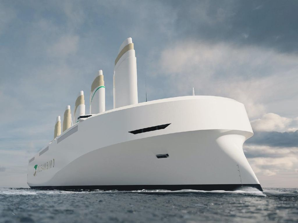 Ini Oceanbird: Kapal Layar yang Tak Punya Layar, tapi Punya Sayap
