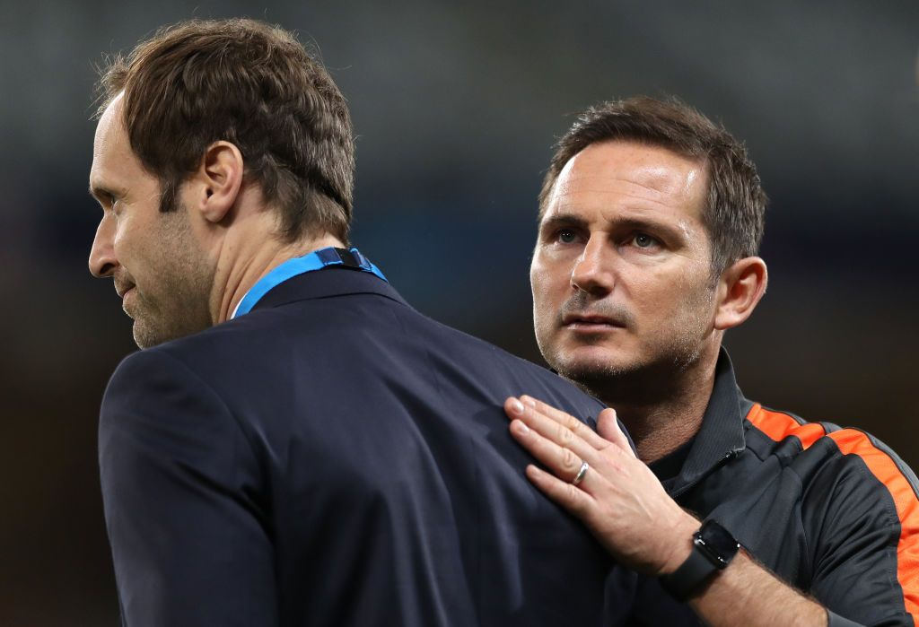 LILLE, FRANCE - OCTOBER 02: Chelsea technical and performance advisor Petr Cech looks on ahead of the UEFA Champions League group H match between Lille OSC and Chelsea FC at Stade Pierre Mauroy on October 02, 2019 in Lille, France. (Photo by Naomi Baker/Getty Images)