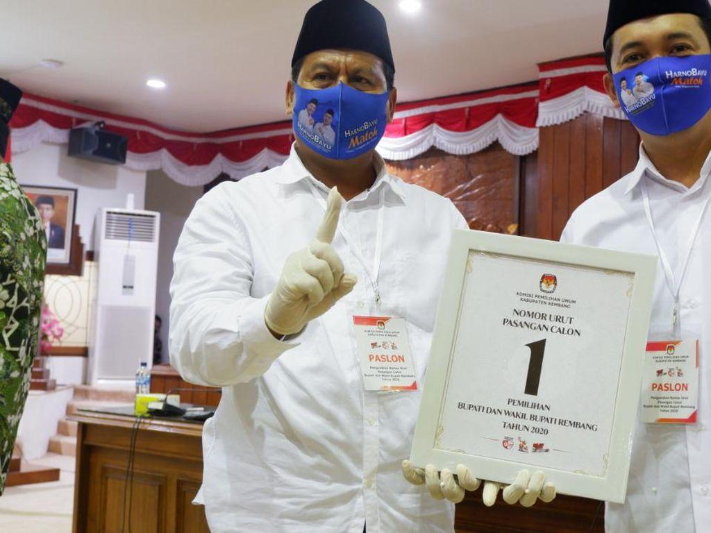 Paslon Harno-Bayu Dapat Nomor Urut 1 di Pilkada Kabupaten Rembang