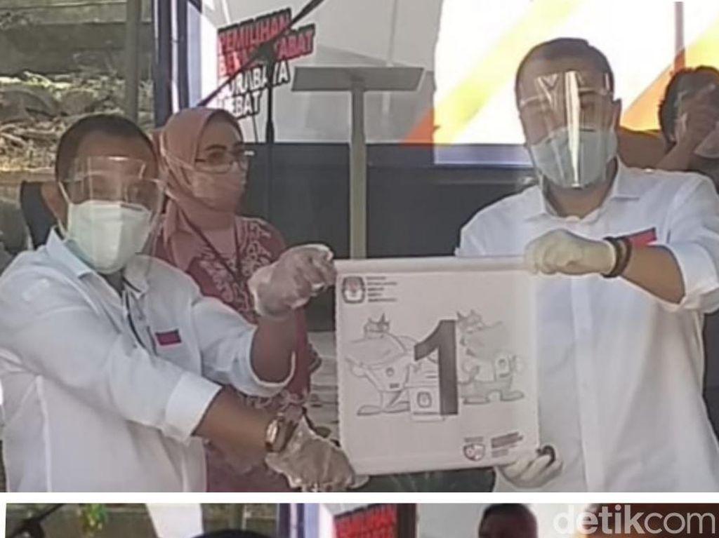 Nomor Urut Pilwali Surabaya, Er-Ji Dapat No 1 Ma-Ju No 2