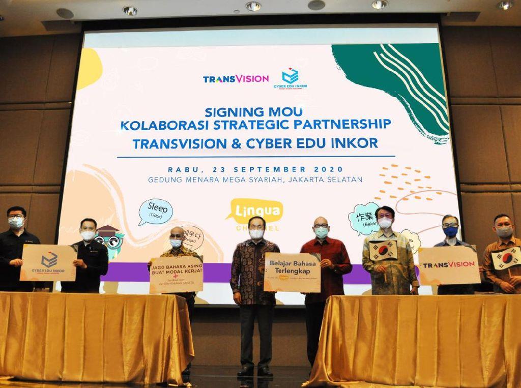 Perkuat Saluran Edukasi, Transvision Gandeng Cyber Edu Inkor