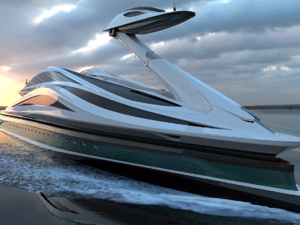 Mencengangkan! Desain Yacht Rp 7,4 T Ini Seperti Angsa yang Anggun