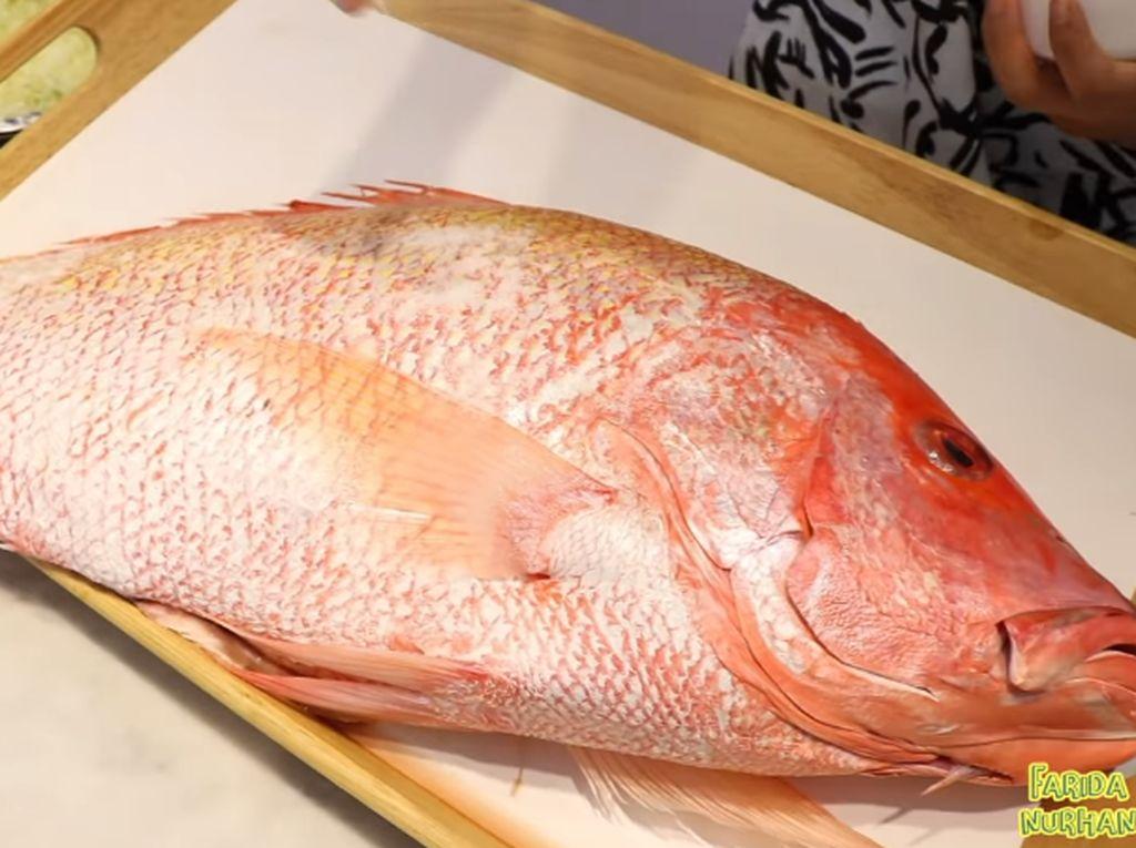 Wow! YouTuber Ini Mukbang Ikan Kakap Goreng 7 Kg
