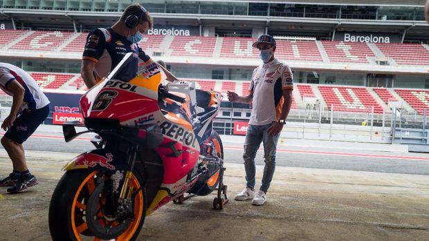 Marc Marquez di Sirkuit Barcelona Jelang MotoGP Catalunya 2020.
