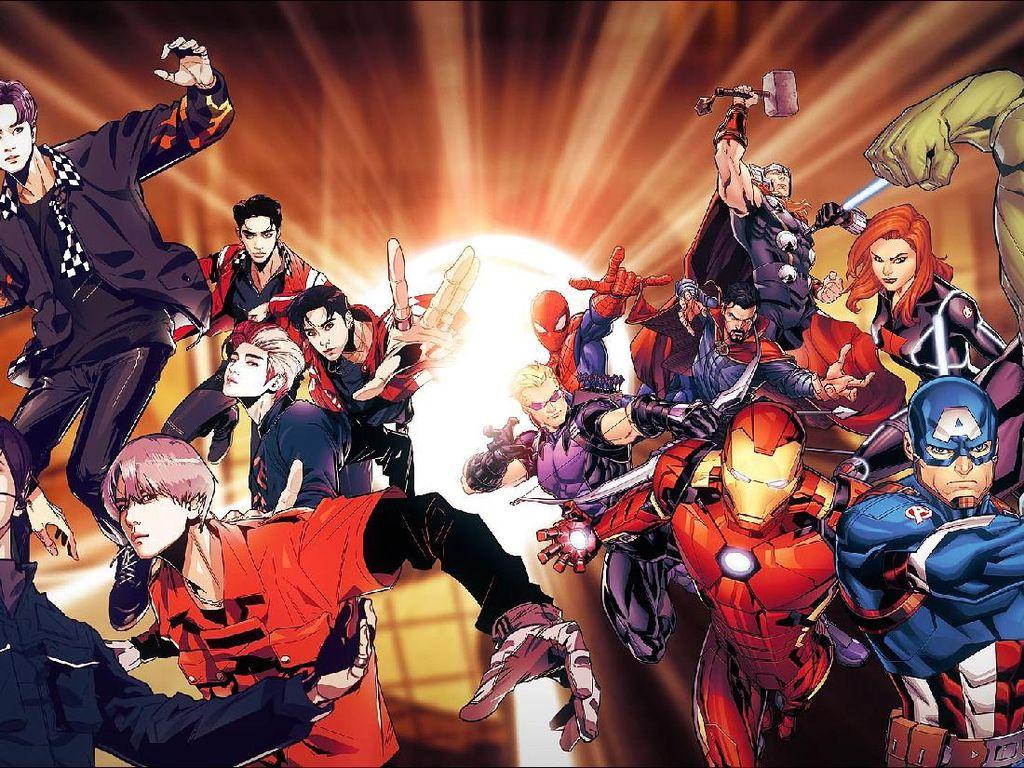 SuperM Bak Tokoh Avengers di Kolaborasi Bareng Marvel
