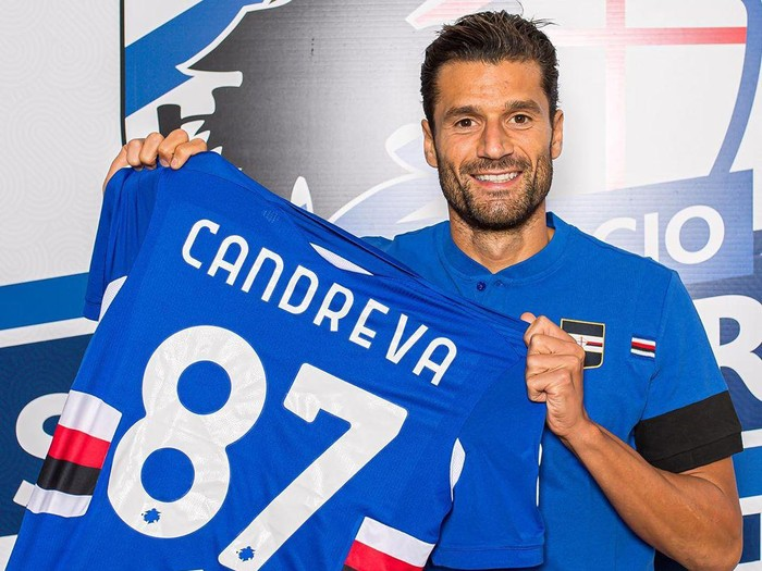 Antonio Candreva bergabung dengan Sampdoria.