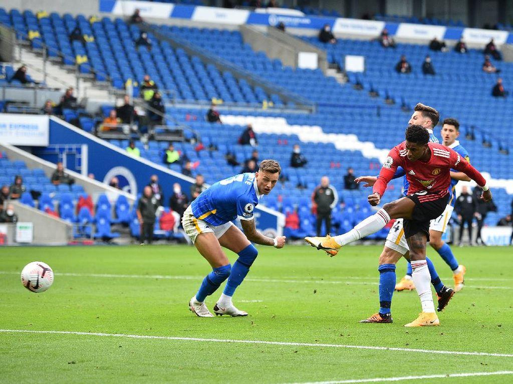 Gol Cantik Rashford di Kemenangan MU Atas Brighton