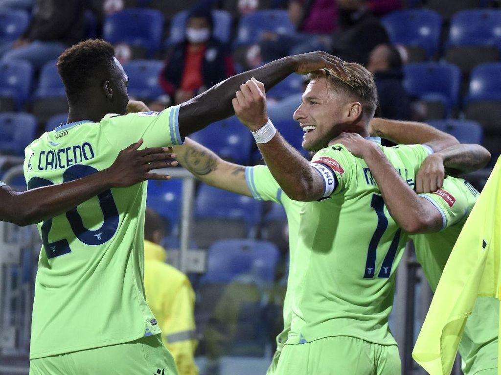 Cagliari Vs Lazio: Immobile Sumbang Gol, Biancoceleste Menang 2-0