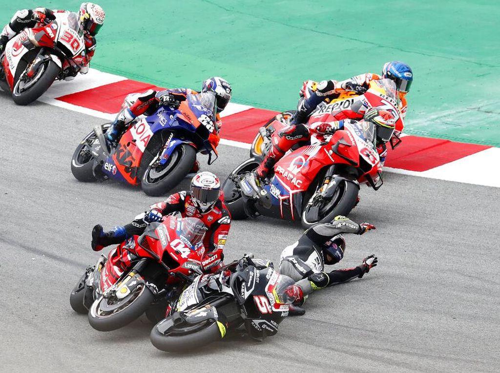 Ini Pebalap MotoGP 2020 yang Sabet Gelar Raja Jatuh