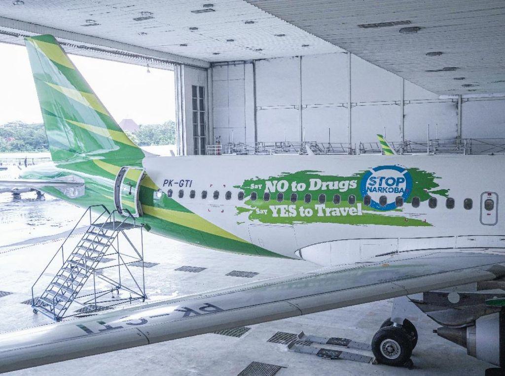 Melihat Airbus Kolaborasi Citilink-BNN yang Kampanyekan Anti Narkoba