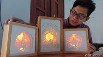 Mahasiswa Tulungagung Bikin Karya Shadow Box Light di Tengah Pandemi