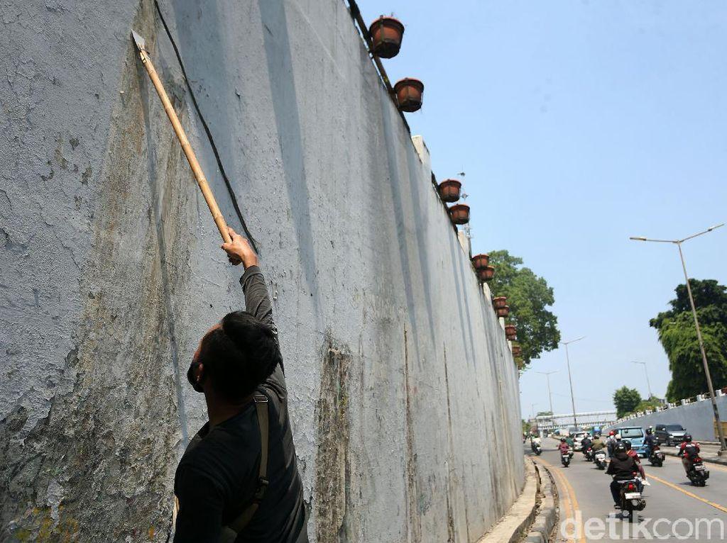 Underpass Jalan Basuki Rachmat Dipercantik dengan Dicat Ulang