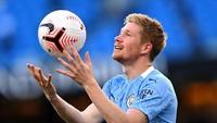 Kevin De Bruyne, pemain Manchester City menempati nomor 5. Gajinya sepekan sebesar 320 ribu paun atau setara Rp 5,9 miliar (Getty Images/Laurence Griffiths)