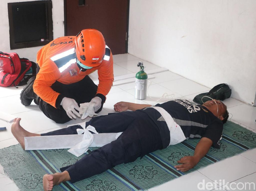 Rawan Gempa, Basarnas Trenggalek Latih Penanganan Pertama Korban Bencana