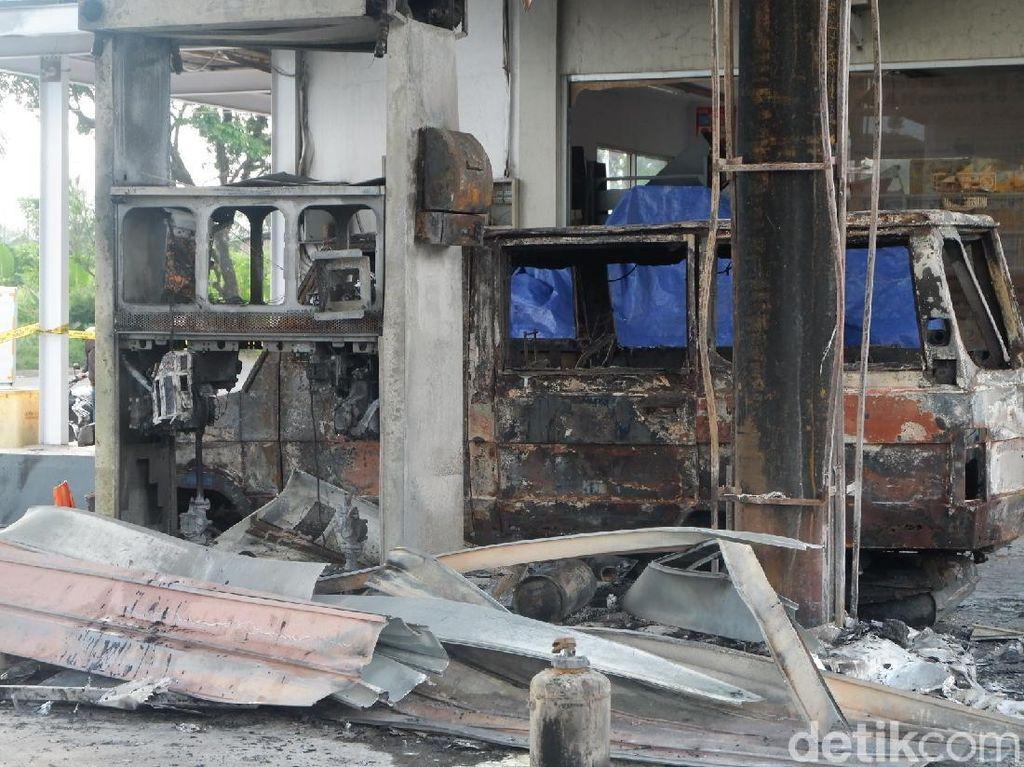 SPBU Sawangan Wonosobo Terbakar