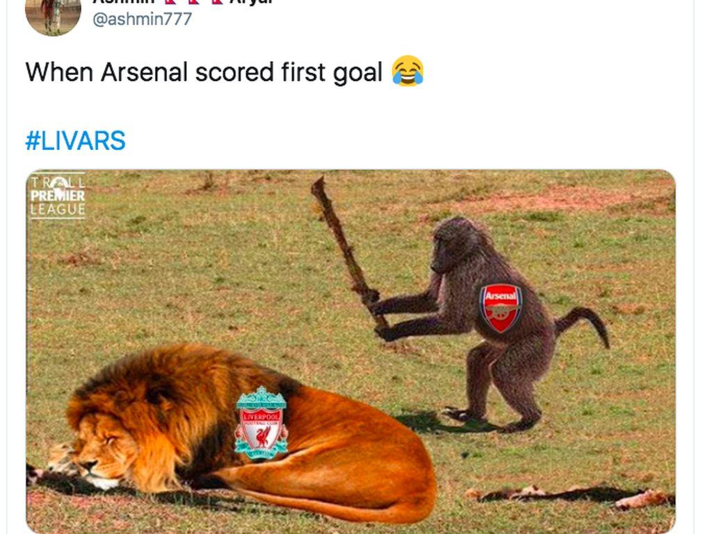 Meme Arsenal Dihajar Liverpool