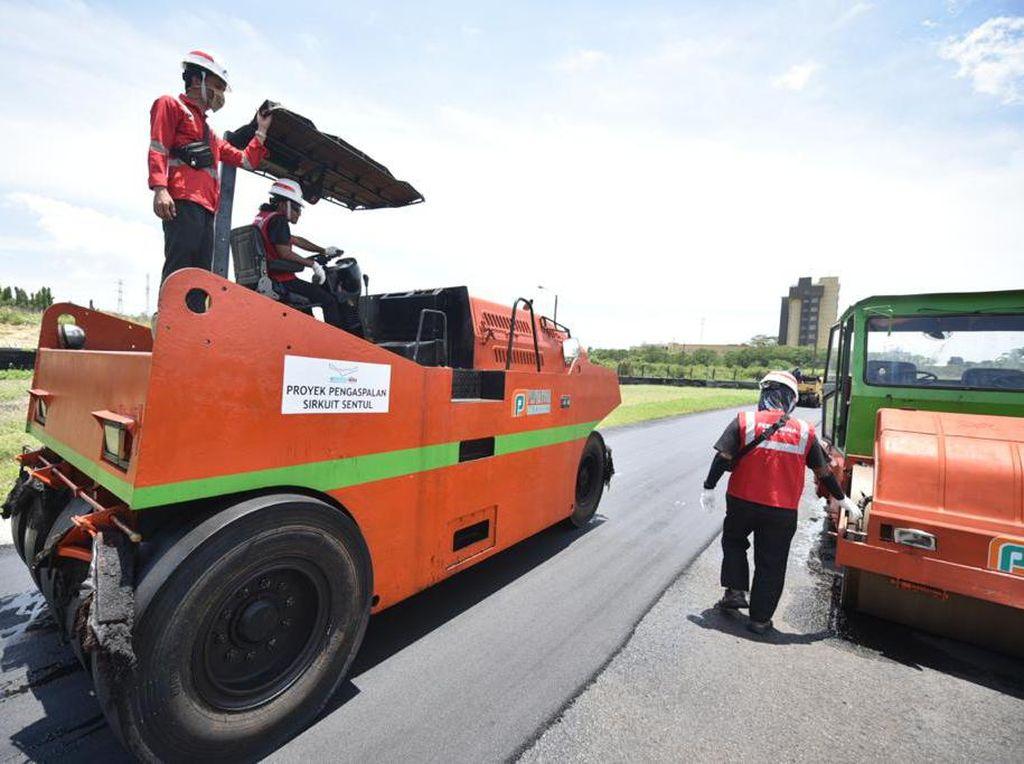 Dukung Kontrak Rp 15 M, Pertamina Pasok Aspal Renovasi Sirkuit Sentul