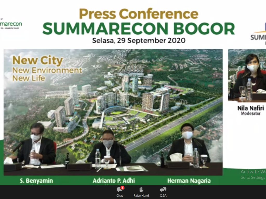 Summarecon Mulai Pasarkan 600-an Unit Proyek Terbaru di Bogor