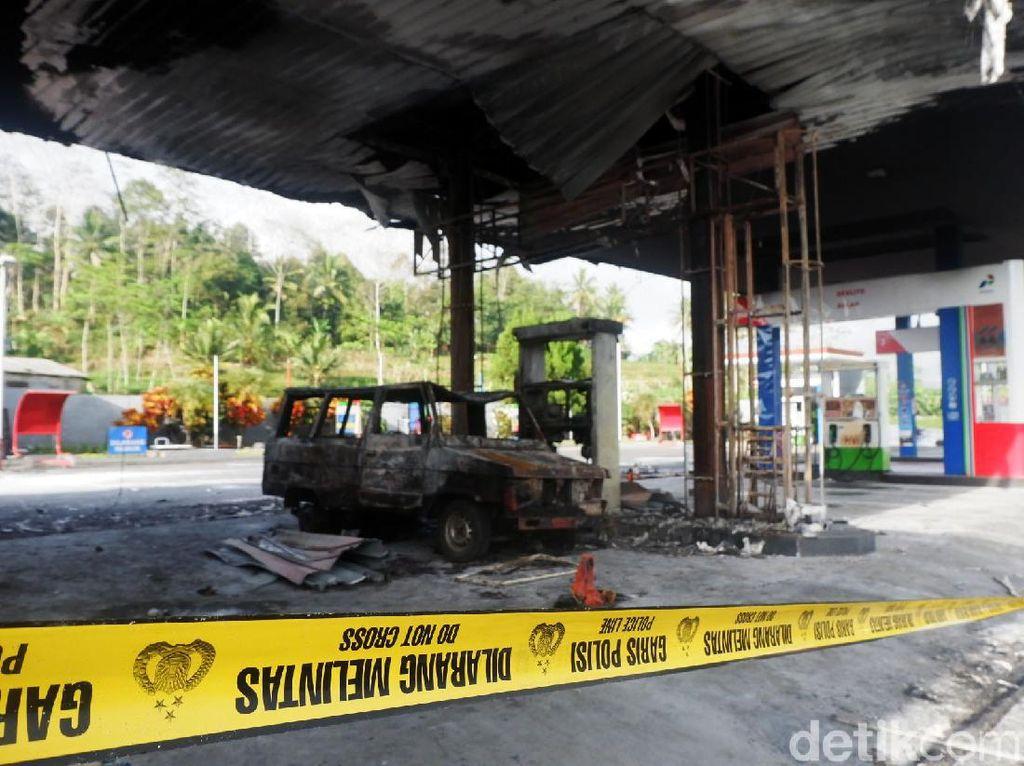 SPBU Sawangan di Wonosobo Hangus Terbakar