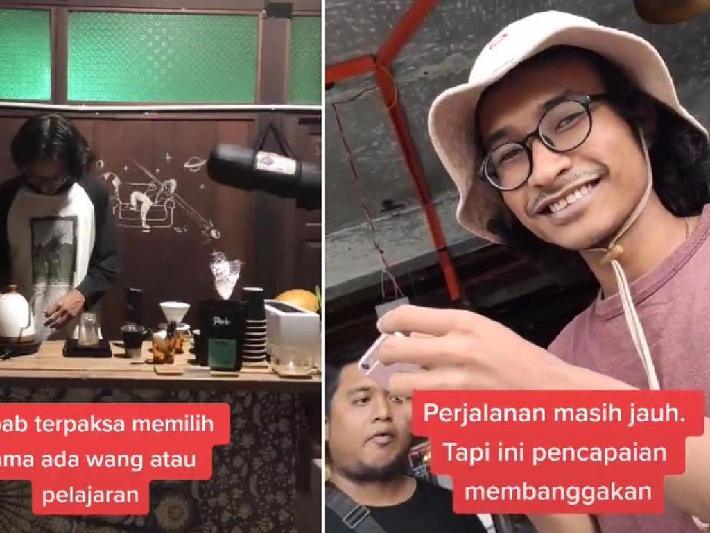 Tak Punya Uang, Mahasiswa Ini Ubah Kamar Tidurnya Jadi Kafe