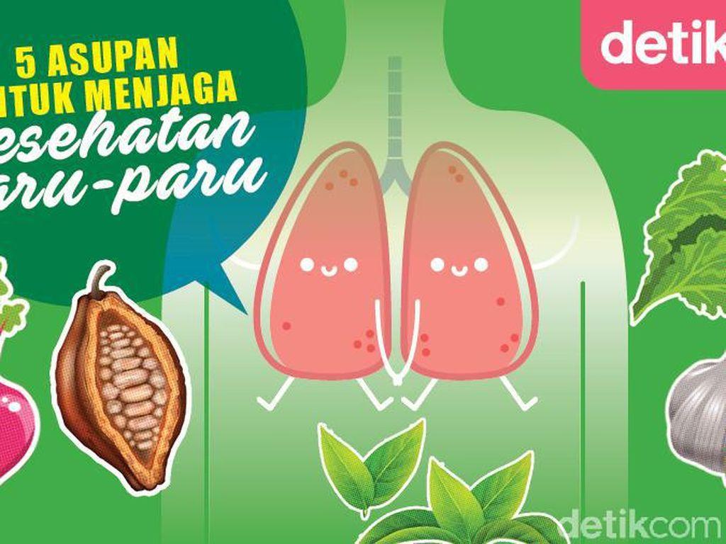 5 Nutrisi untuk Jaga Kesehatan Paru-paru