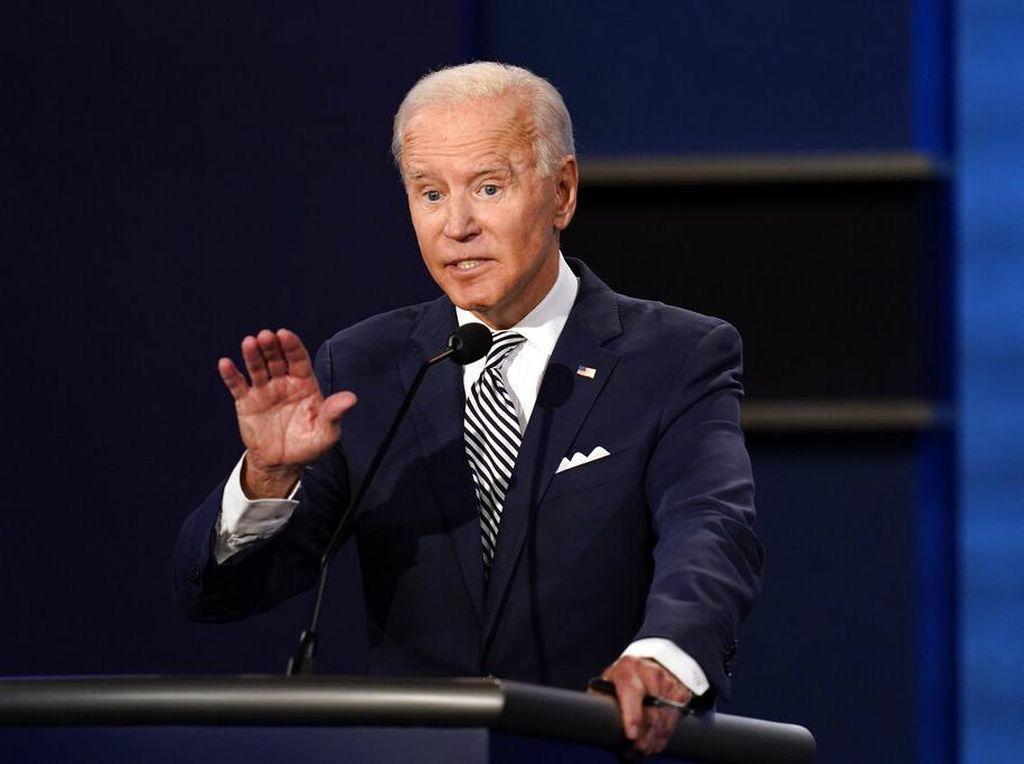Ini Momen Debat Joe Biden Sindir Trump dengan Insyaallah