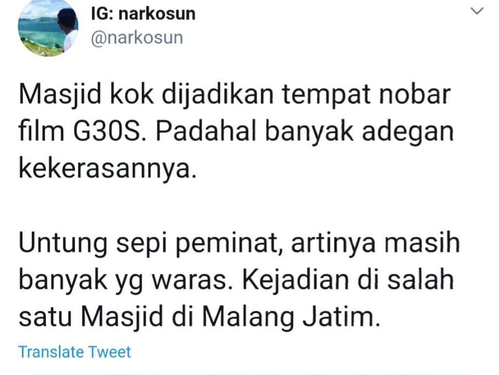 Ini Penjelasan Takmir Masjid di Malang Gelar Nobar Film G30S/PKI