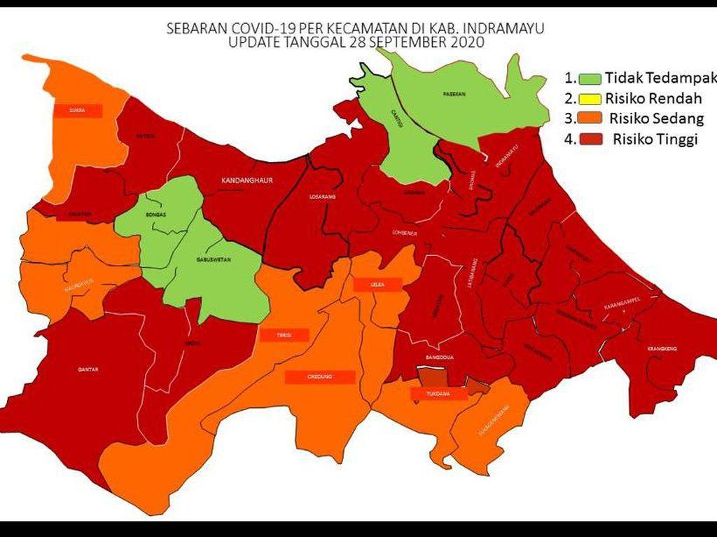 20 Kecamatan di Indramayu Zona Merah COVID-19