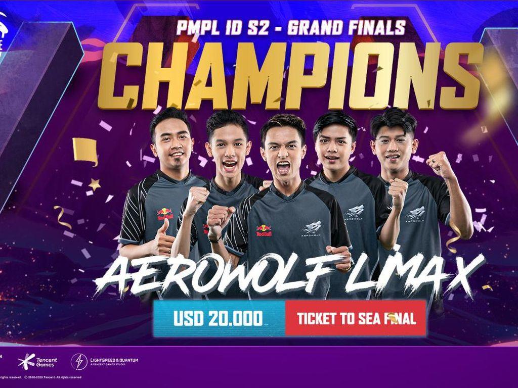 Aerowolf Limax Juara dan Wakili Indonesia di PMPL SEA Finals
