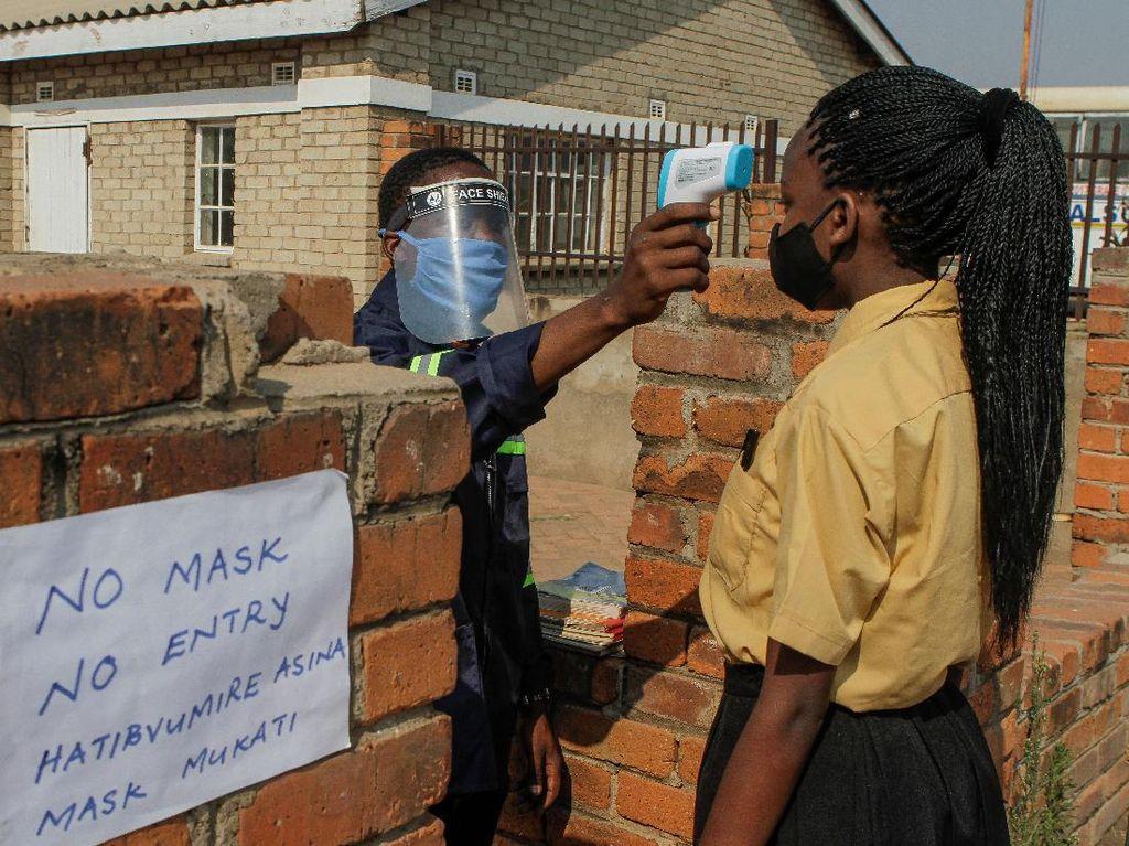 Suasana Lockdown Jalan Harare di Zimbabwe