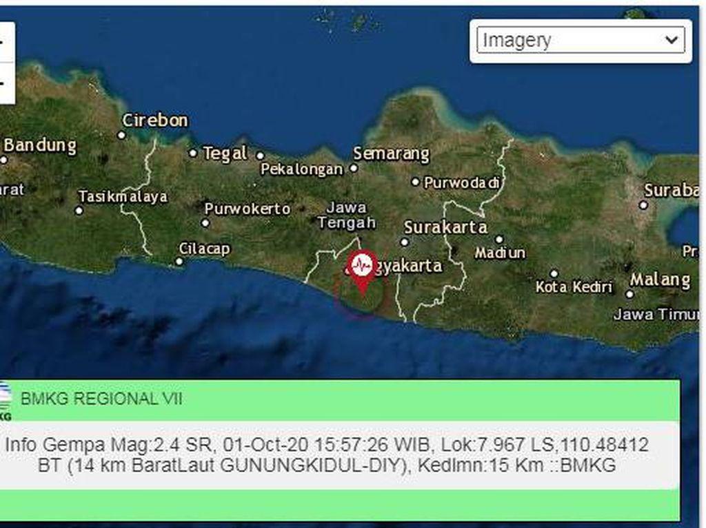 Gempa Darat M 2,4 Terjadi di Gunungkidul